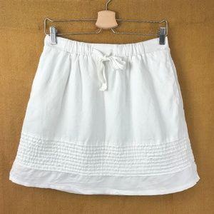 EUC Gap White Cotton Pin Tuck Skirt XS